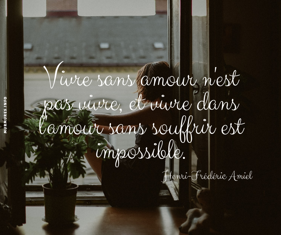 Citation Amour Impossible Murmures Info