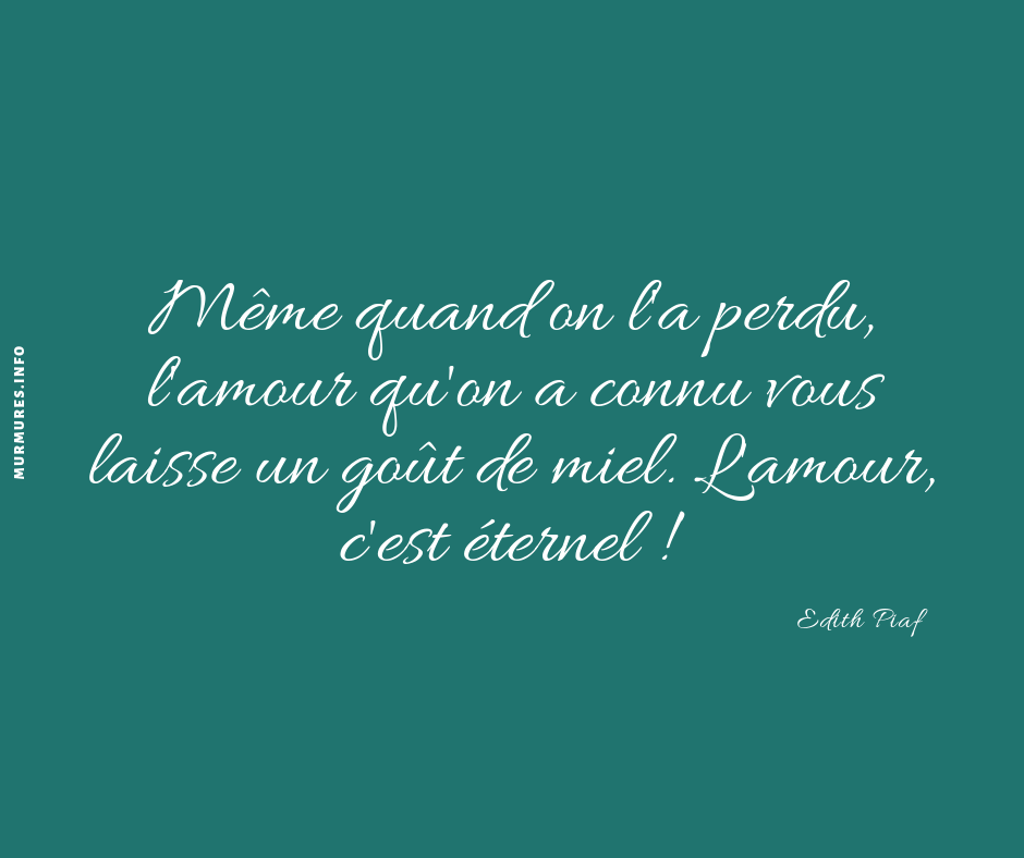 citation amour perdu