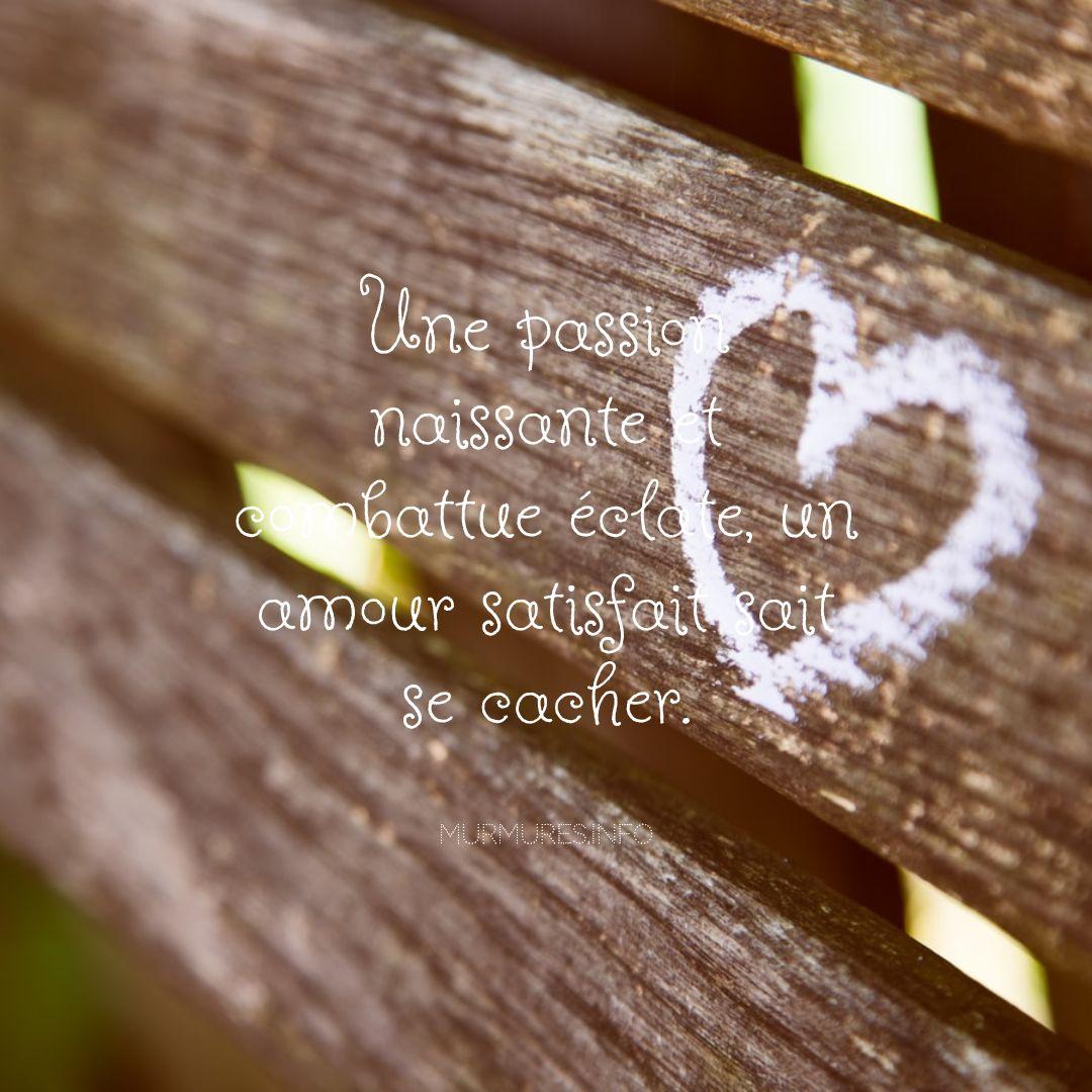 Citations amour caché