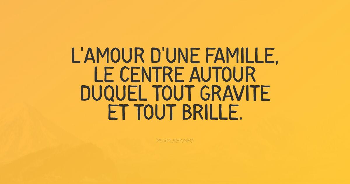Citations amour famille